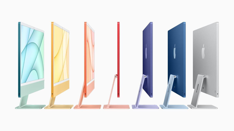 Apple's colorful new iMacs